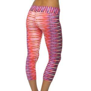 Prana Roxanne Multicolor Yoga Capri Leggings